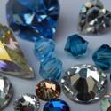 Plakkristallen en kastjes