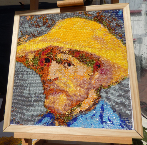 Vincent van Gogh telpatroon kralen borduren